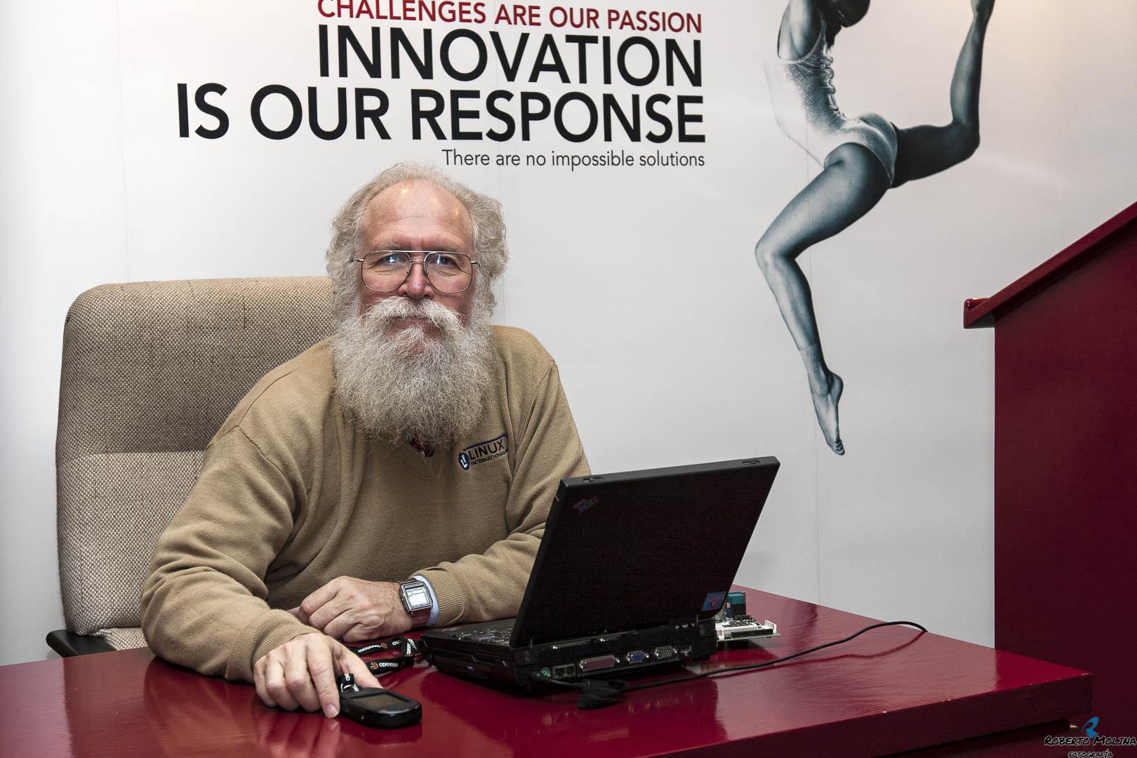 """Jon """"maddog"""" Hall. Presidente y director ejecutivo de Linux International"""