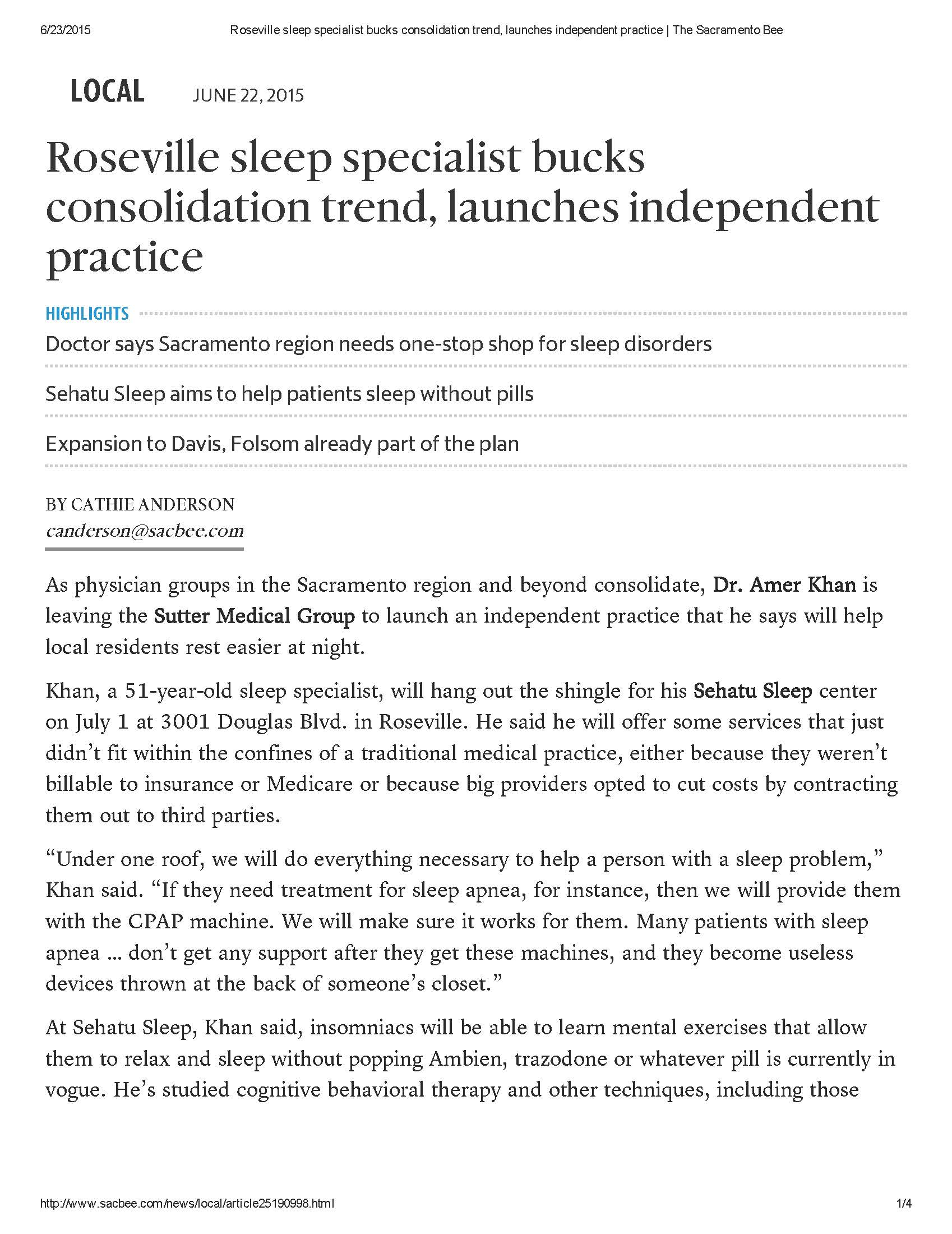 Roseville sleep specialist bucks consolidation trend, launches independent practice _ The Sacramento Bee_Page_1.jpg