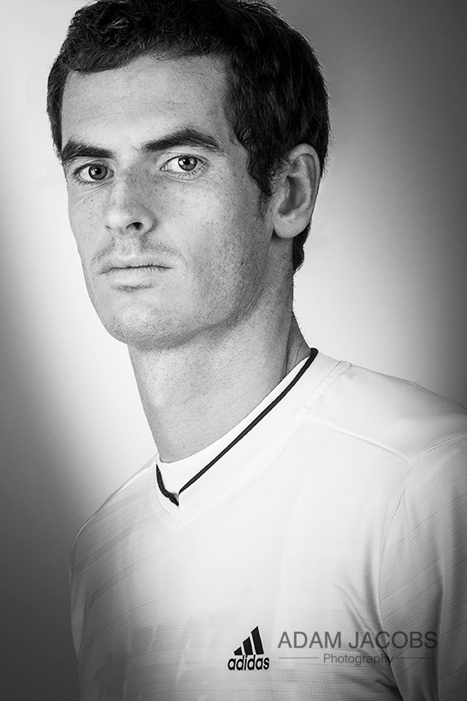 Andy Murray Portrait_Adam Jacobs Photography