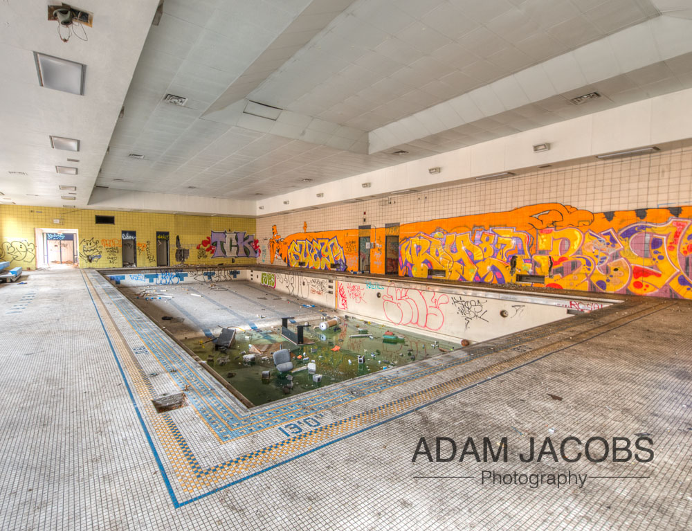 Abandoned Swimming Pool_Adam Jacobs Photography Art Print To Buy 1