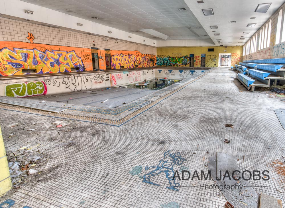 Abandoned Swimming Pool_Adam Jacobs Photography Art Print To Buy 3
