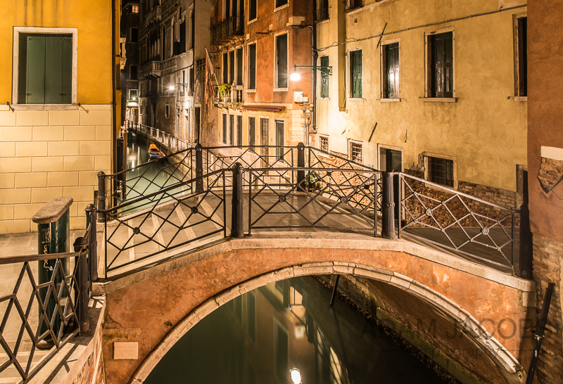 Adam Jacobs Photography Venice Canal Night Long Exposure Landscape Picture Italy Travel
