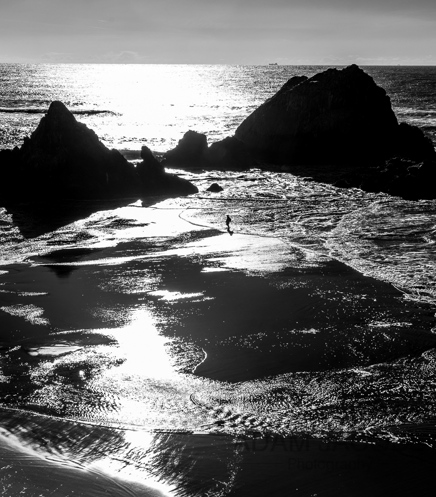 Adam Jacobs Photography Fine Art Black and White California San Francisco Beach