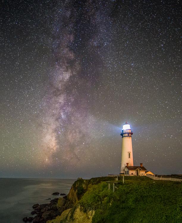 Pigeon Point_Lighthouse Star Milky Way Landscape Photography
