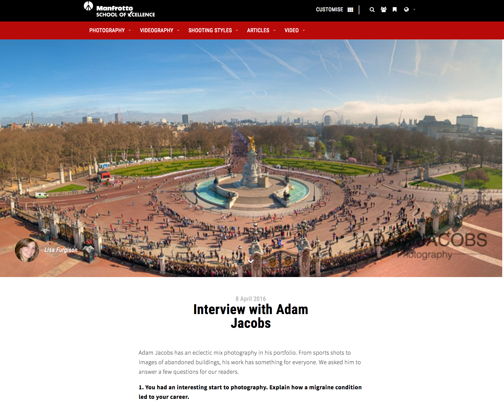 Adam Jacobs Photographer interview Manfrotto San Francisco Bay Area