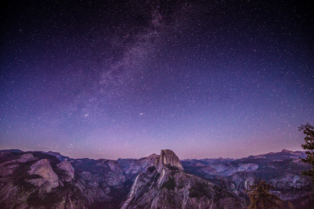 Milky Way Half Dome Yosemite National Park