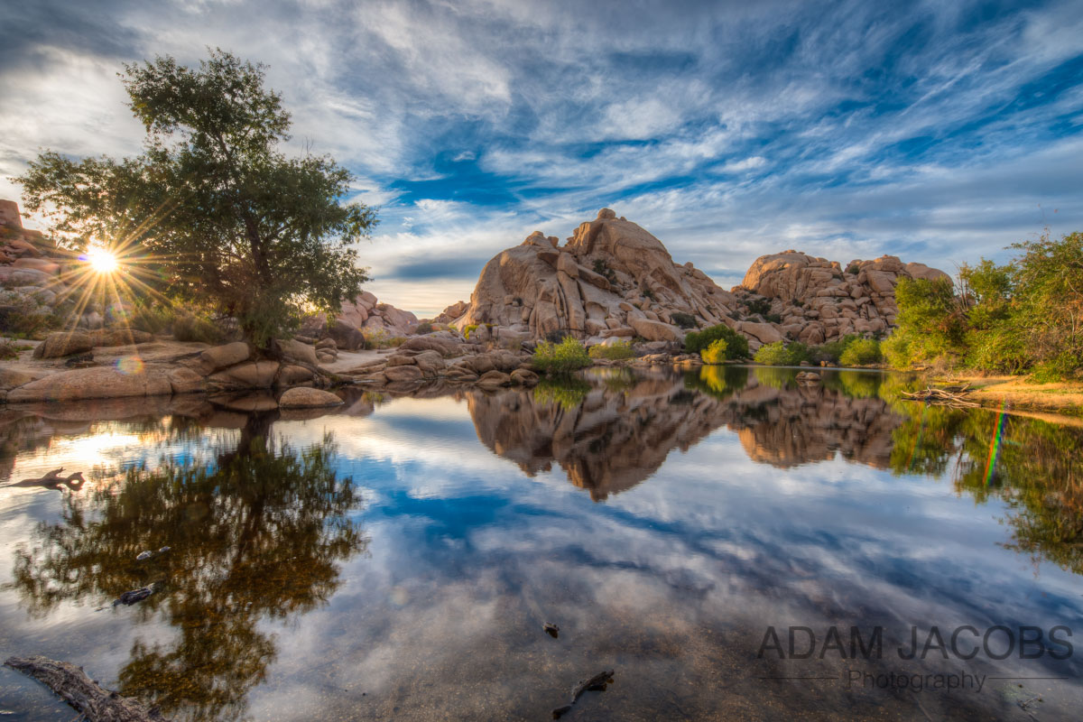 Barker Dam in Joshua Tree was the only place I found water in the Park. I was told by some locals that it was extremely rare for it to be this full so I stuck around and was rewarded with an amazing sunset! See the photos and video below.
