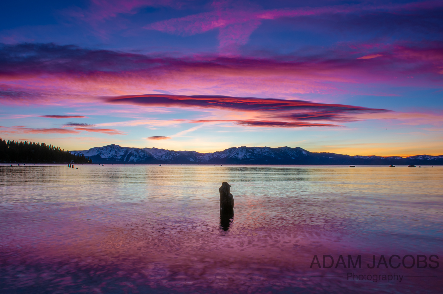 Adam Jacobs Photography Winter Sunset Lake Tahoe California - 1