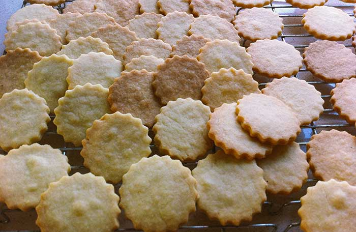 Shortbread biscuits fresh out of the oven | Cloudberry Lane