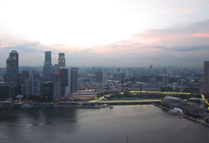 View from Marina Bay Sands Hotel in Singapore | Cloudberry Lane