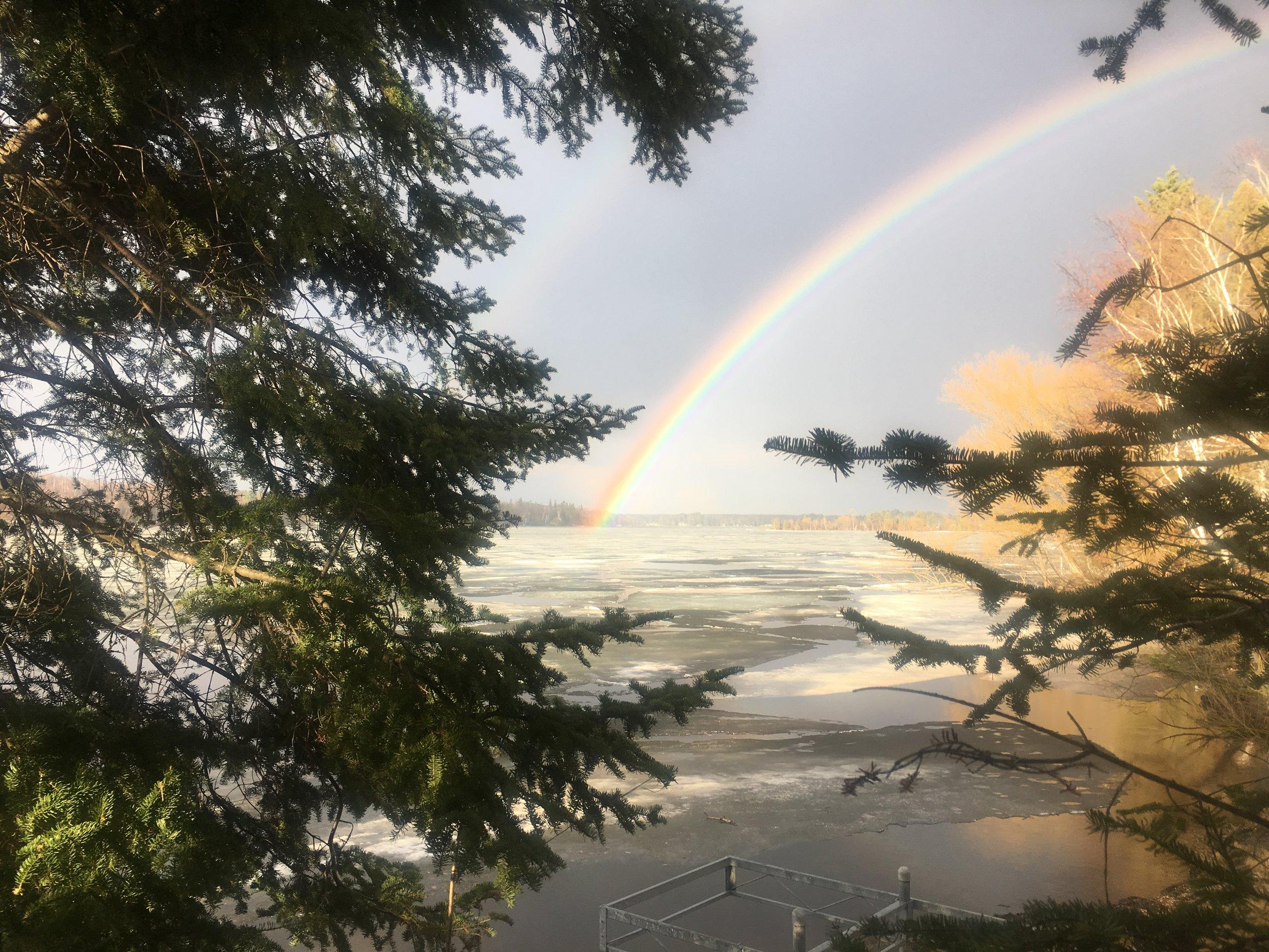 Rainbow over Pike Lake 24Apr2019.jpg