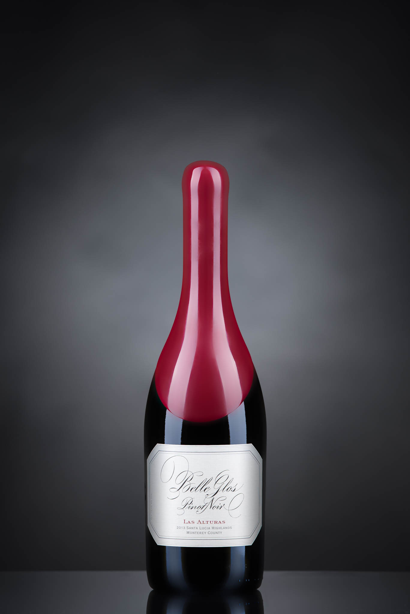 Product shot of a wine bottle