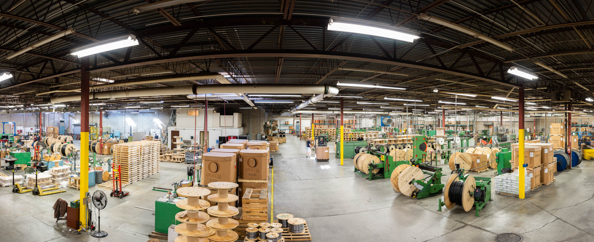 Panorama of production facility