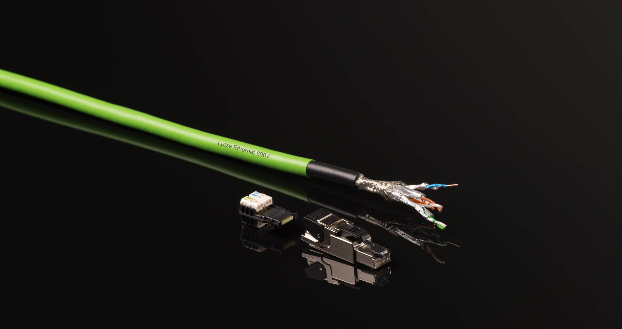Cable product shot for online product introduction