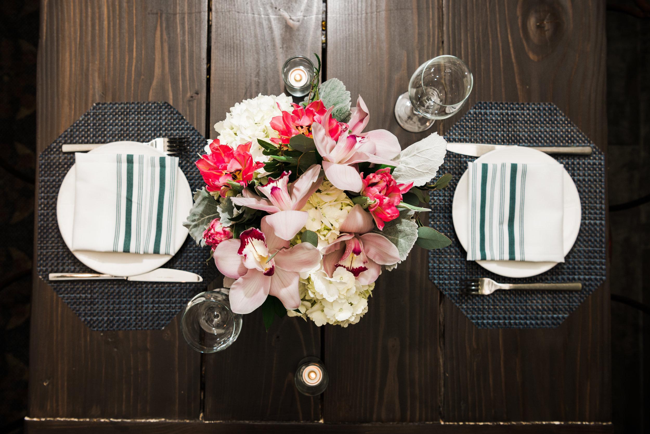 MXDC Farmhouse table for 2 with flowers.jpg