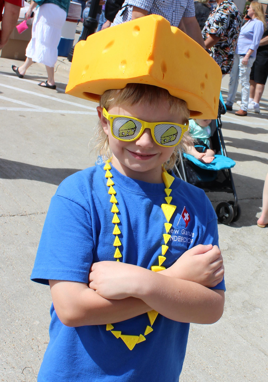 boy in cheese hat.JPG