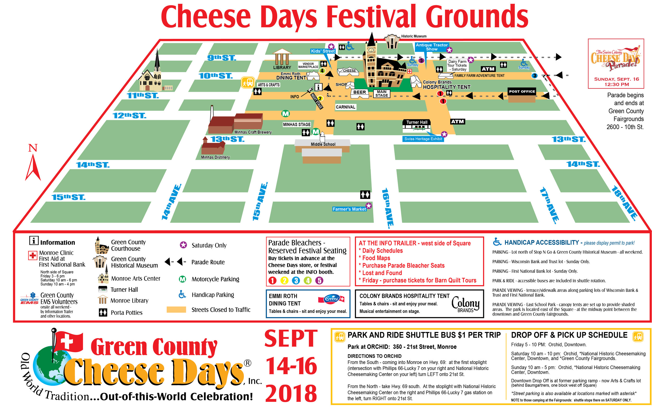 Cheese Days Festival Map