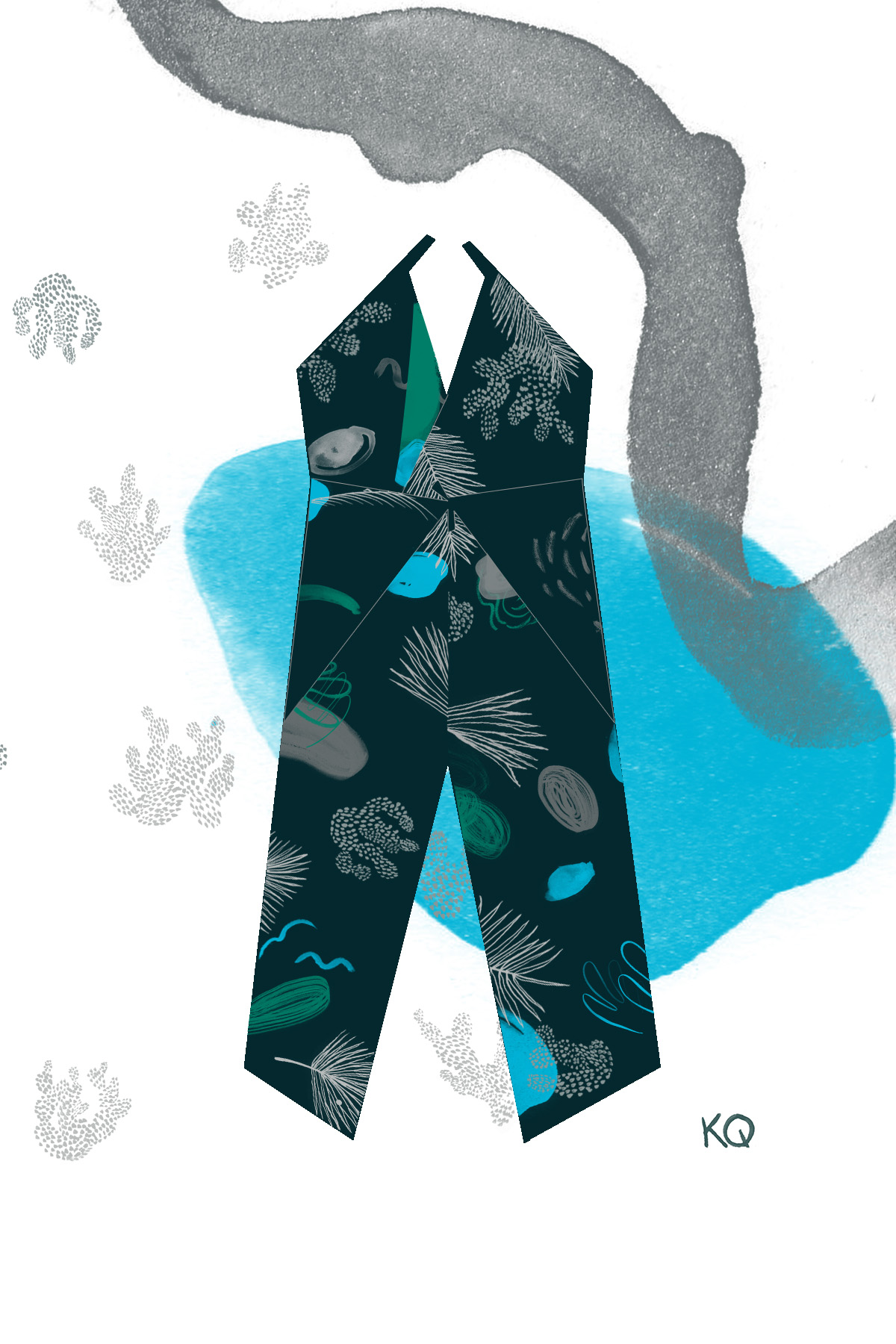 Palms in Blue Jumpsuit
