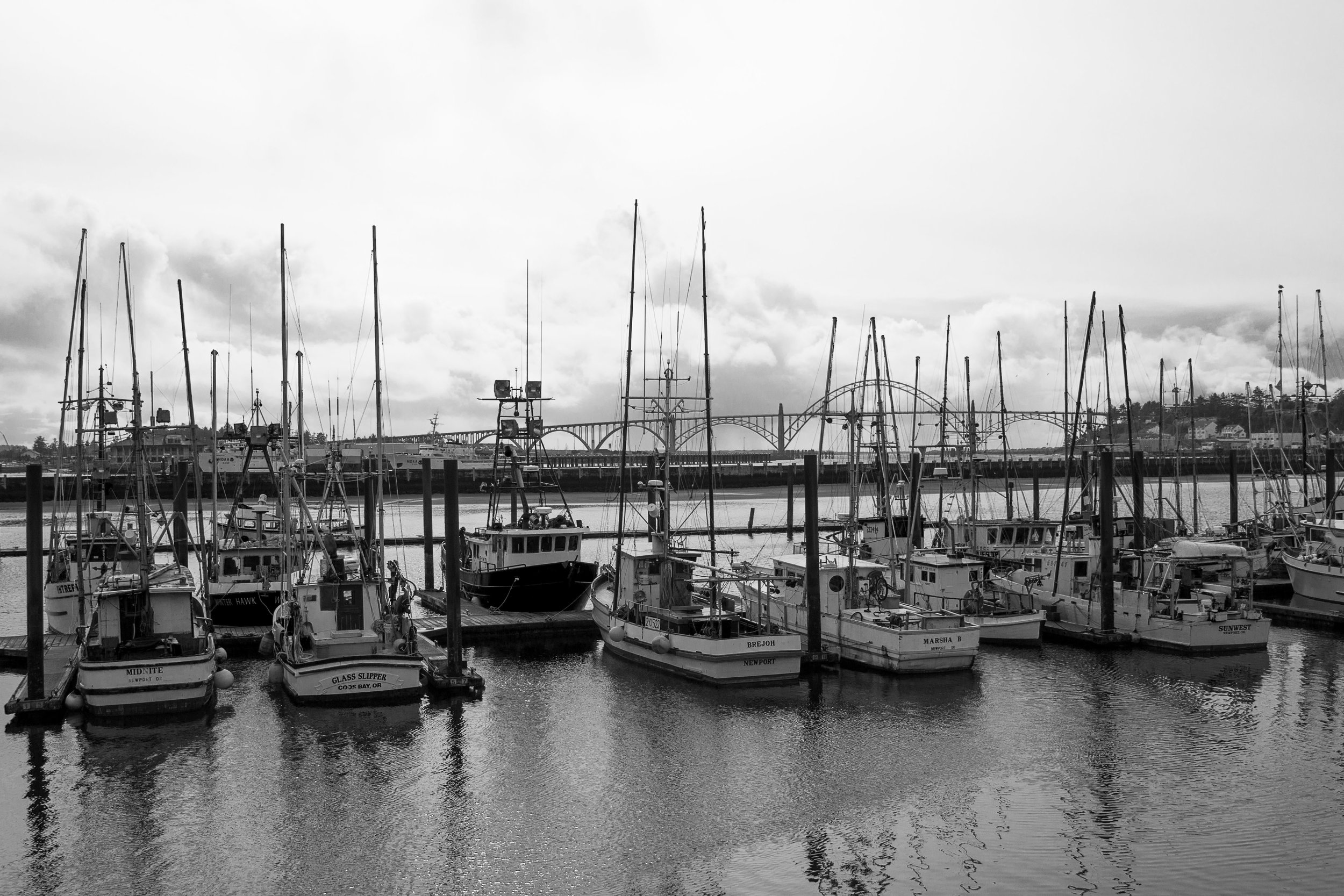 Yaquina Port, Newport, Oregon (Wikimedia Commons)
