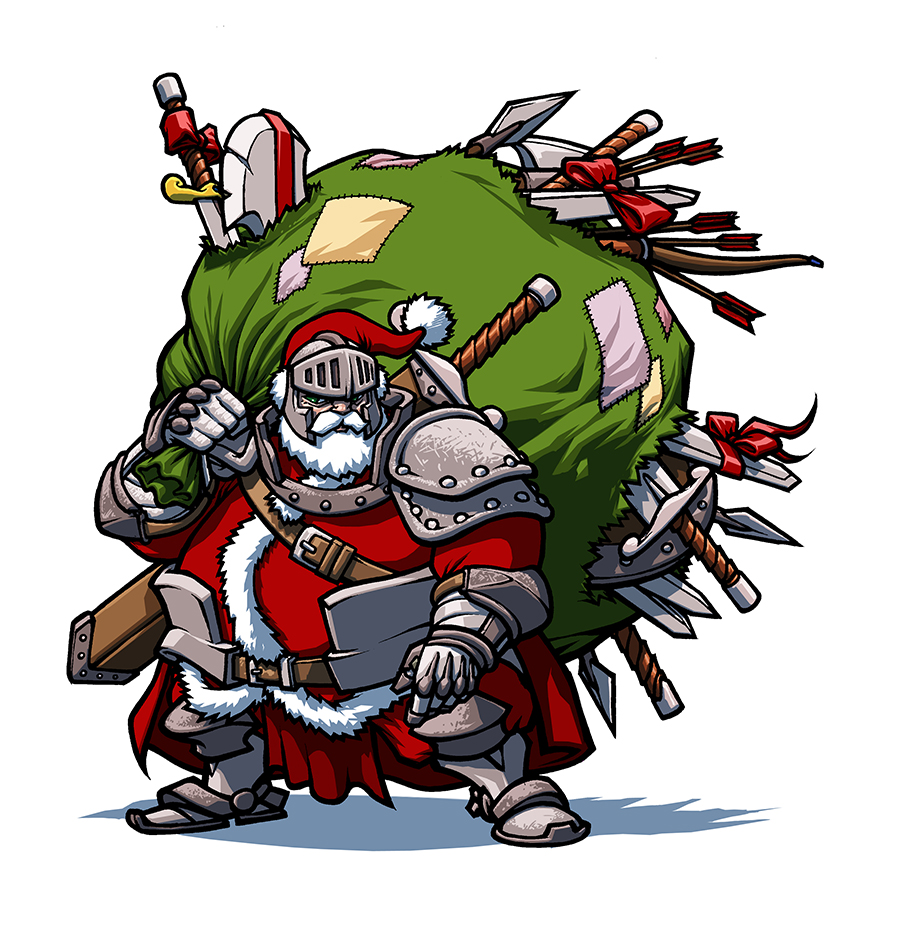 A Christmas card for Orbit Books.