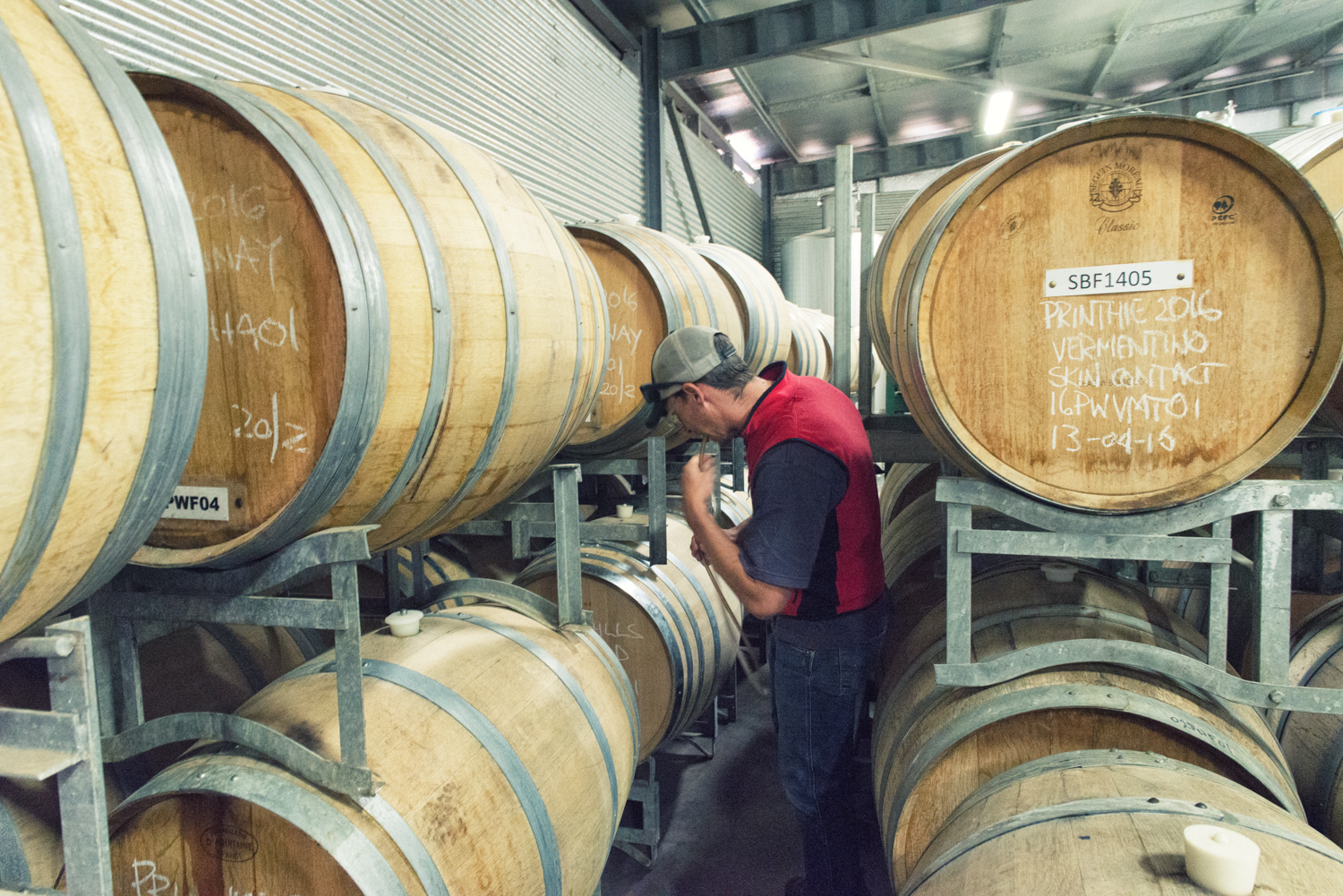 Dave Swift getting a barrel sample