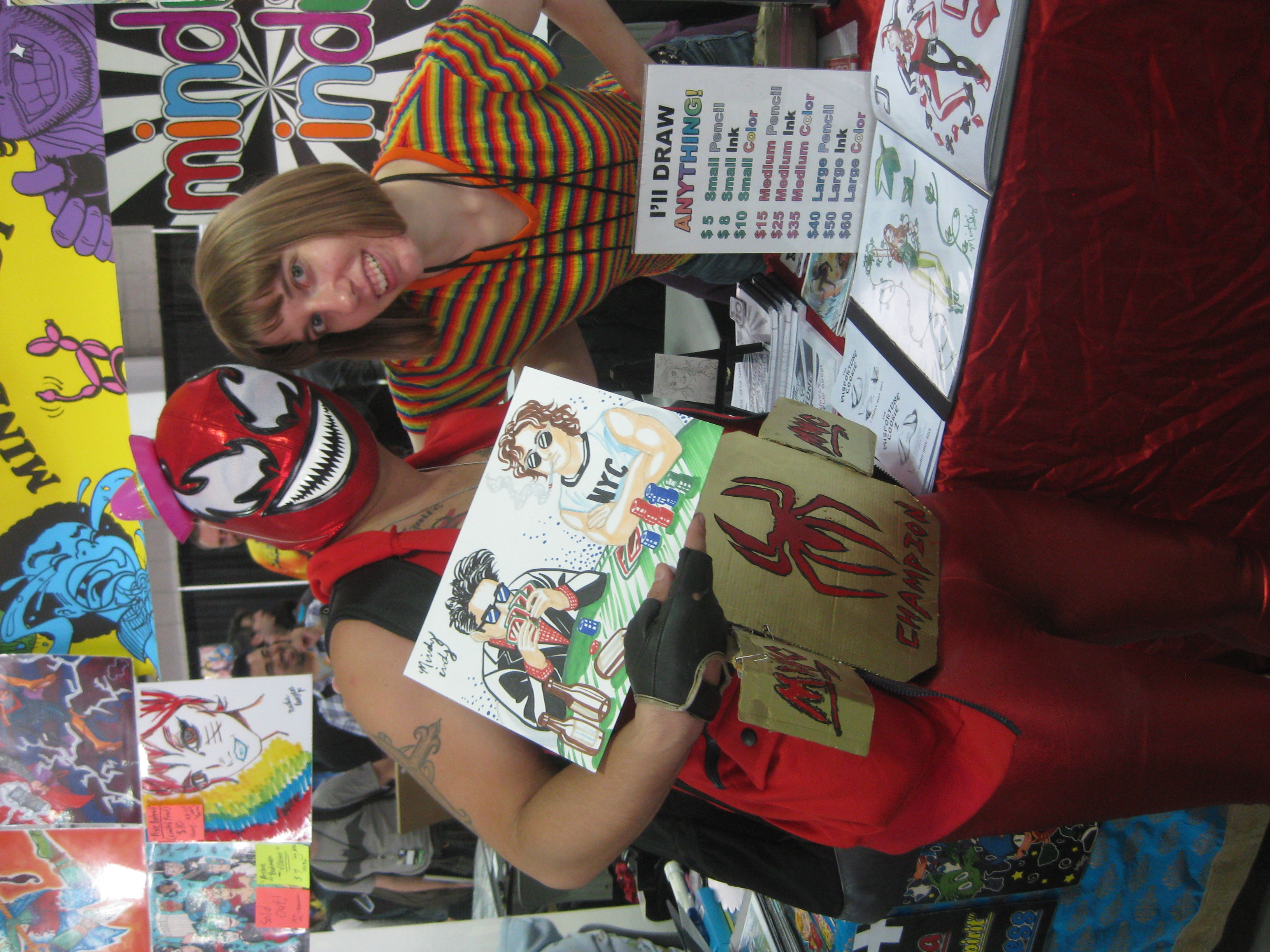 He loved the drawing so much!  And had a super cool costume!