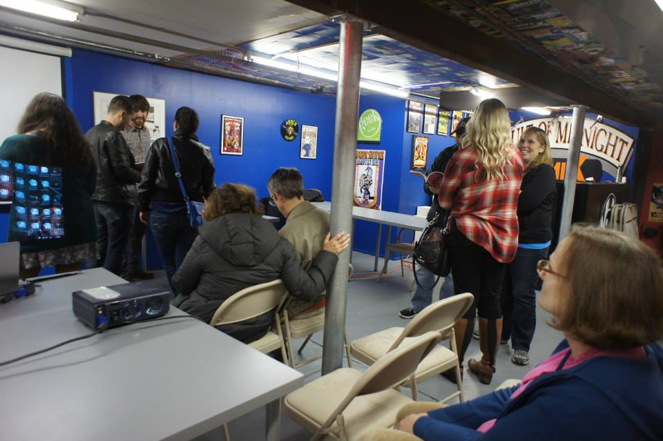 The Vault of Midnight repainted their basement to look awesome! A pretty good turnout for the event too!