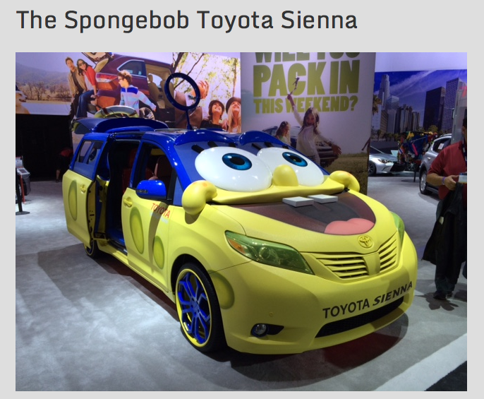 How appropriate for a Sponge Bob car to be at the MOTOR CITY comic con!