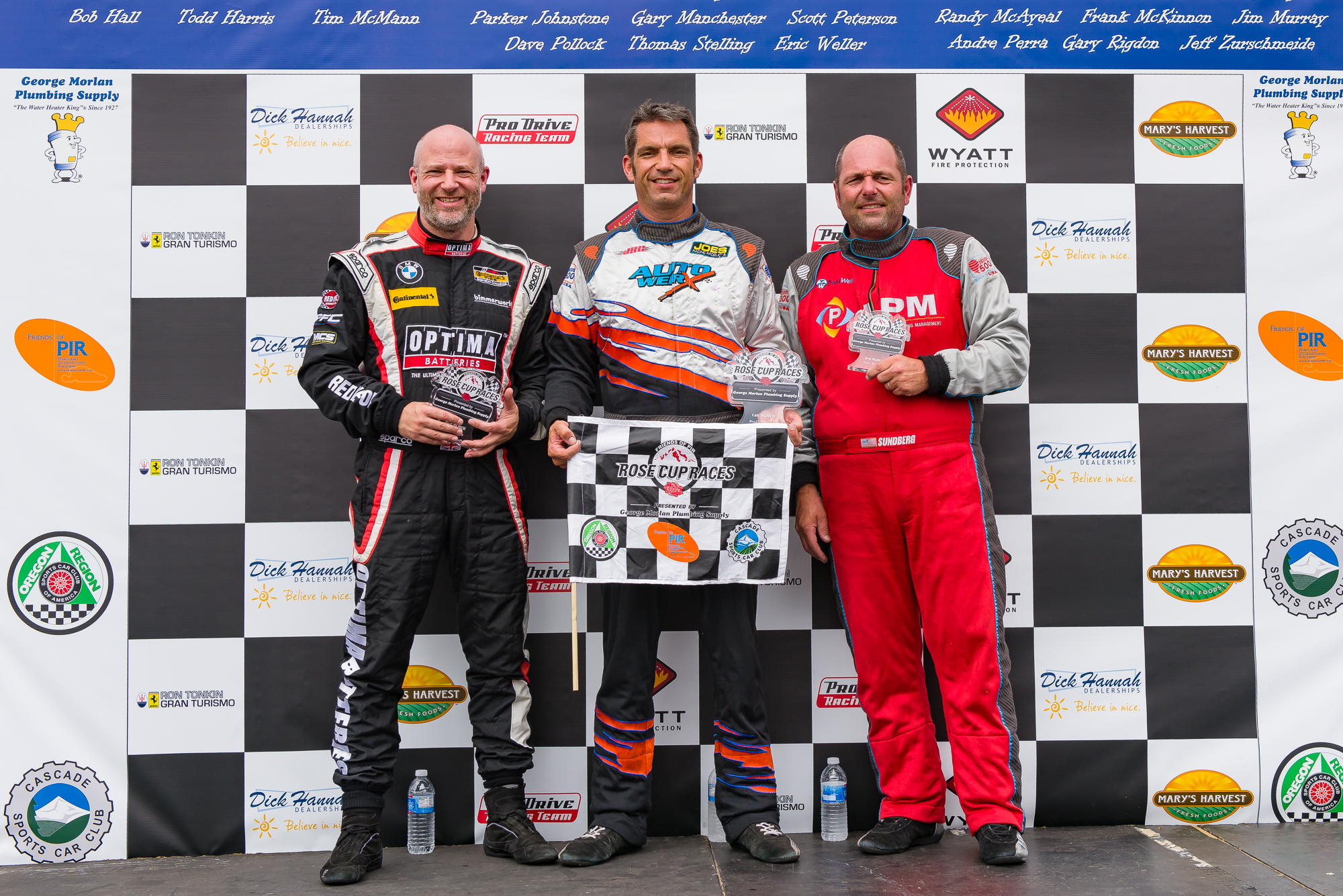 Podium finish (me left, Jason Fraser middle and Mark Sundberg right)at the Rose Cup was a great way to end what was a fantastic weekend!