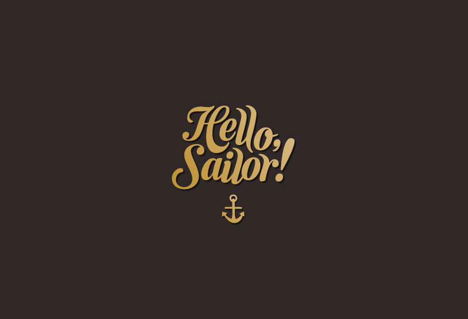 Logo for a line of swimwear. Client: Hello, Sailor!