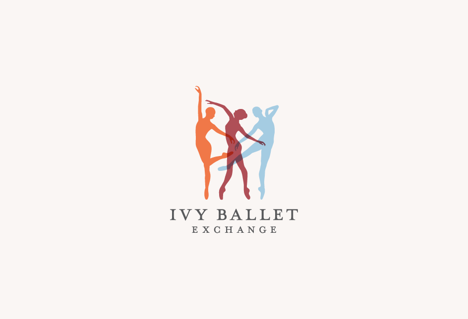 Logo for the Ivy Ballet Exchange, representing Princeton, Columbia, and Harvard.   Client: Princeton University Ballet