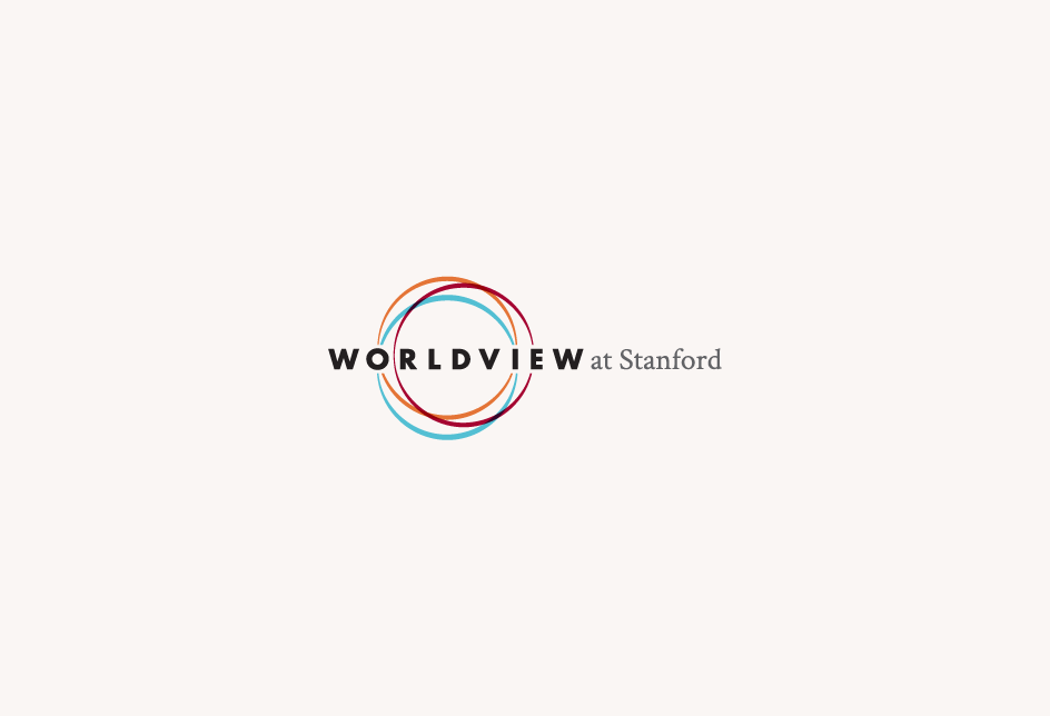 Logo concept for Worldview, a Stanford University program for professionals and leaders. Client: Stanford University