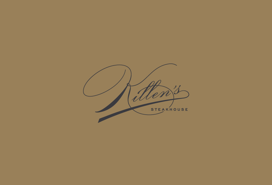 Re-design concept for the legendary Killen's Steakhouse in Houston. Client: Kimberly Park Communications
