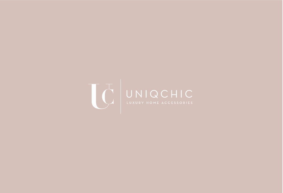 Monogram lockup for an online home accessories retailer. Client: UniqChic