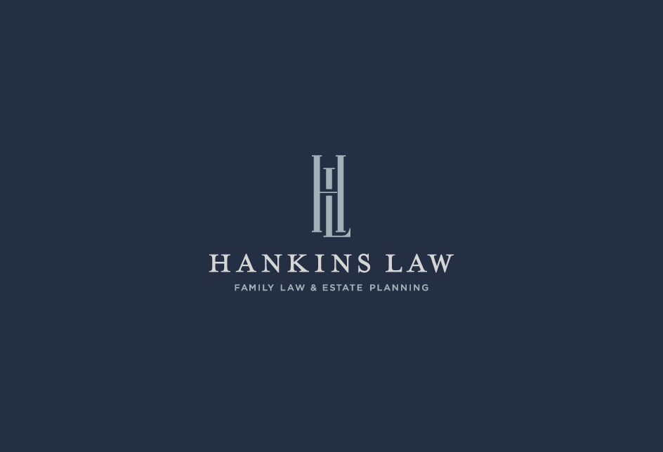 Monogram lock-up for a family law and estate planning attorney in Indiana.   Client: Hankins Law