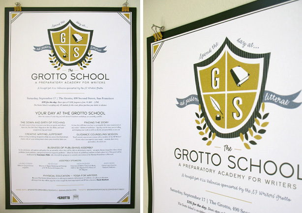 SF Writers Grotto School Poster