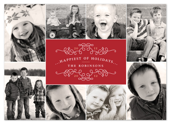 Classic Collage Photo Holiday Card