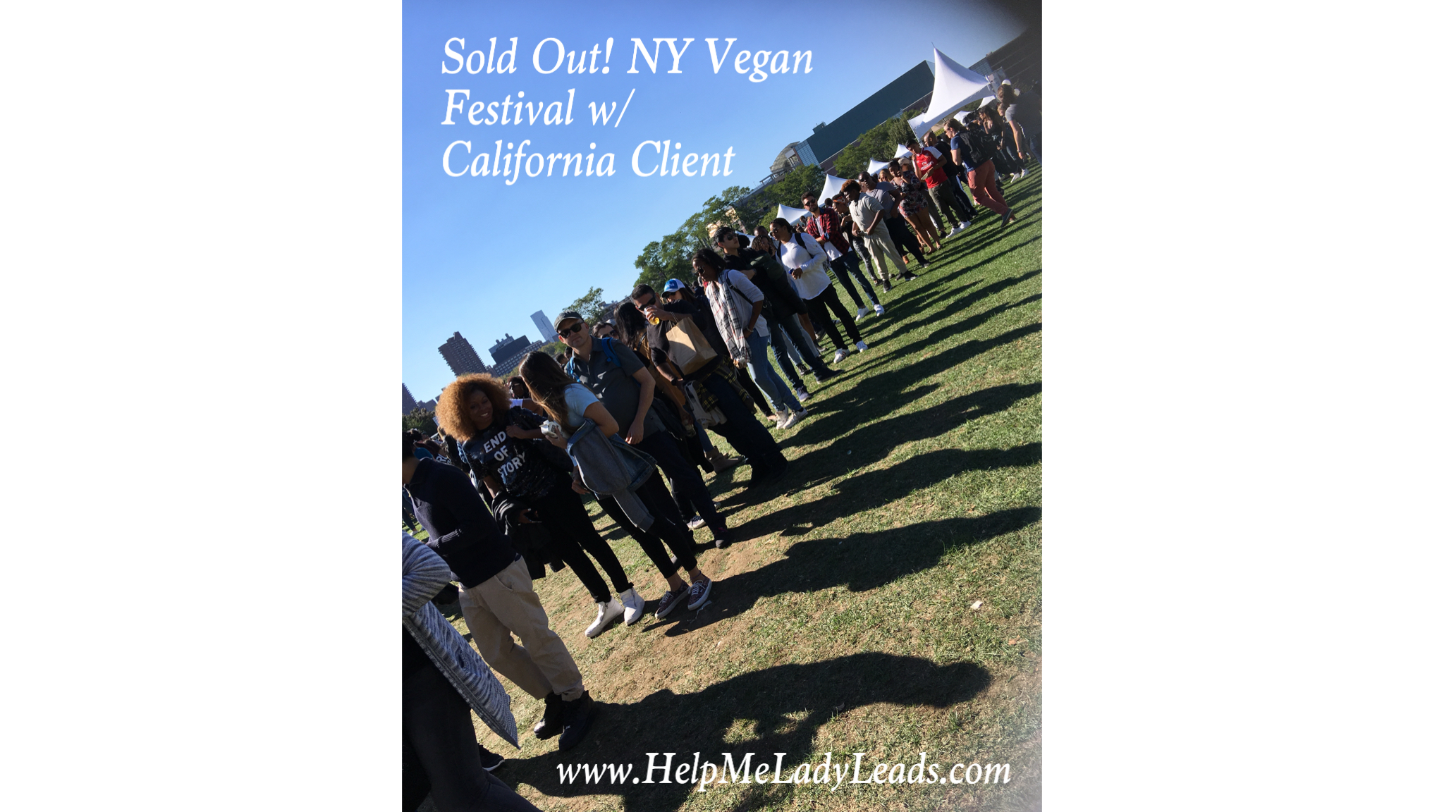 Click here to watch 1 min clip of Veganation from Cali in NYC..SOLD OUT!