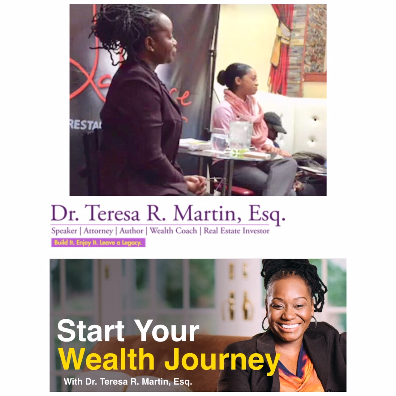 Creative Coordinator & Hosted Real Estate Meetup w/ Dr. Teresa R. Martin, Esq.