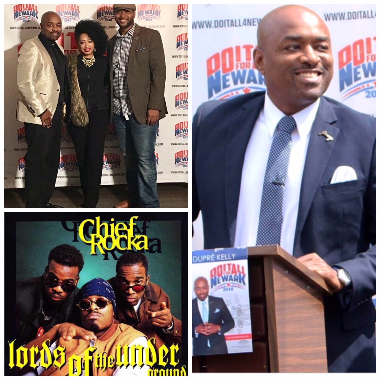 "Celebrating Birthday and Supporting run for Councilman at Large for Newark, NJ Dupre Kelly ""Do It All"" from Legendary Hip Hop Group ""Lord of the Underground"""
