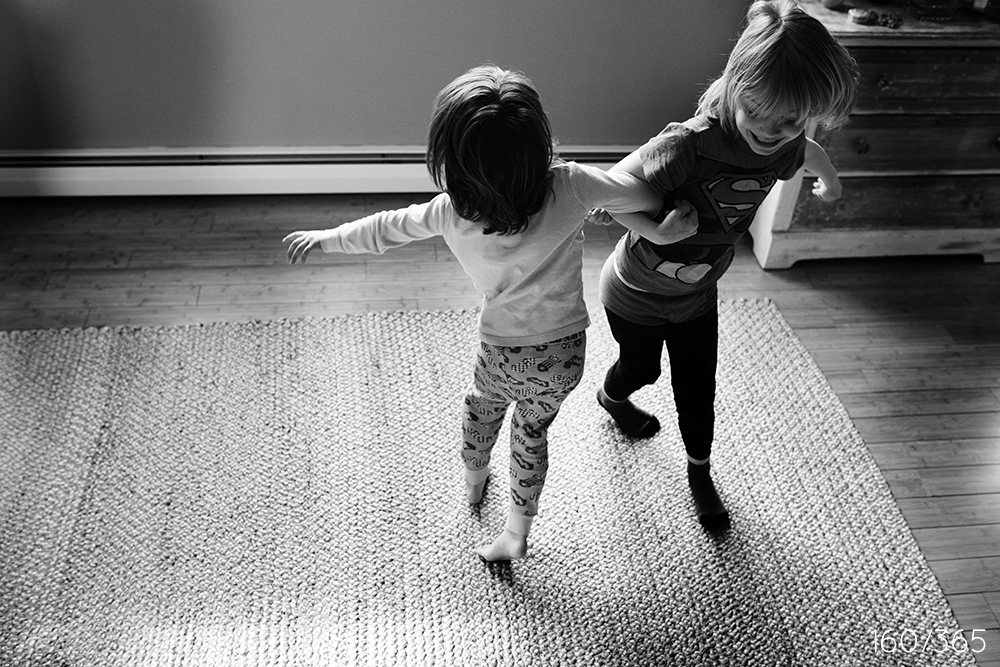 April vacation. Spinning, spinning - round and round. Giggling and laughing all the while. In your PJs, of course!