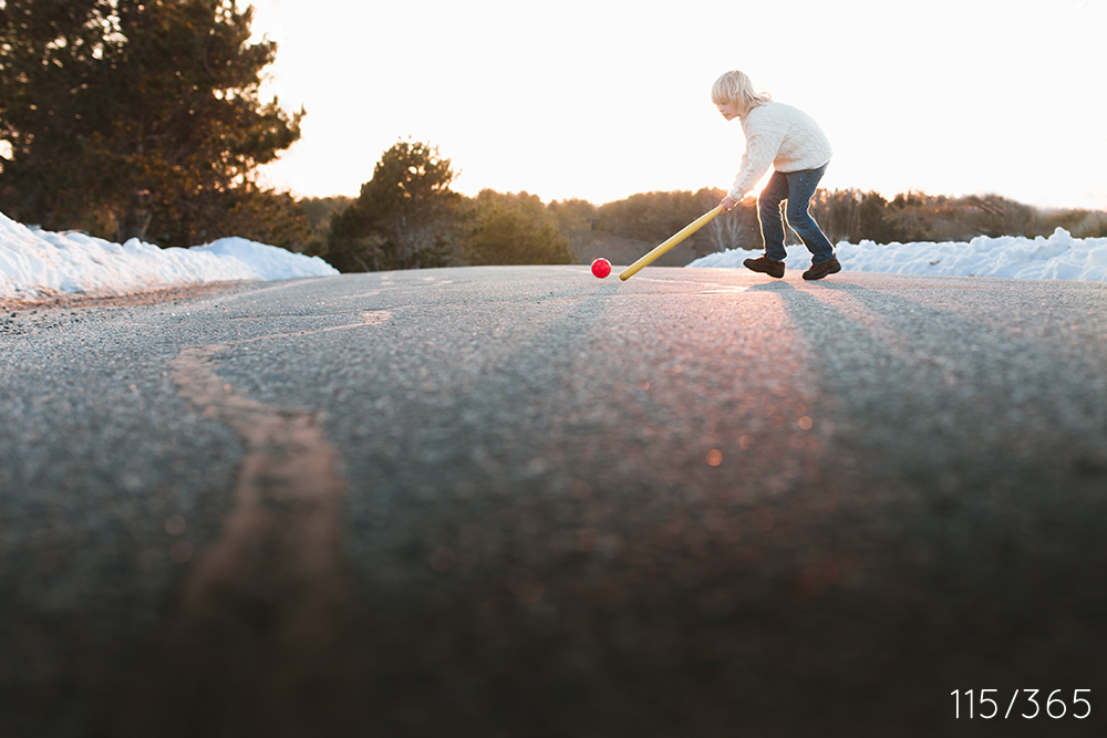 Practicing rim lighting at Golden hour. You were playing street hockey.