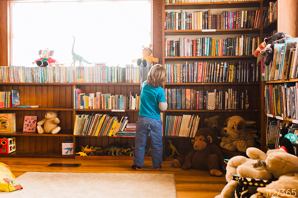 Preschool field trip to the Orr's Island library.