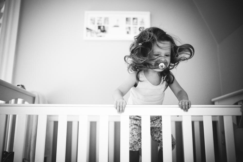 295/365 a little wild b in her crib
