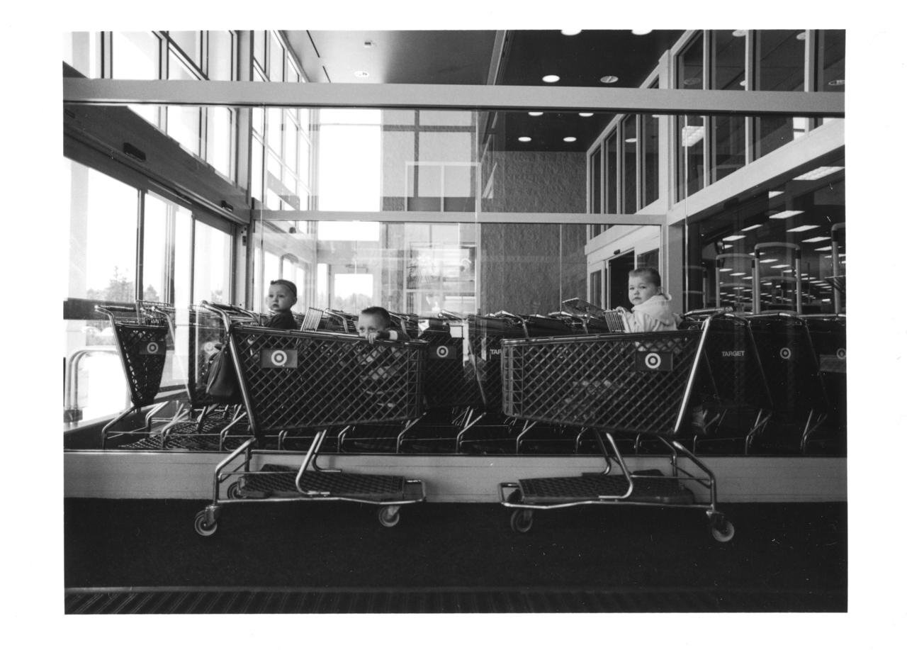 110/366 Darkroom Day | Portrait Project - Kids in the Carts |Silver Gelatin
