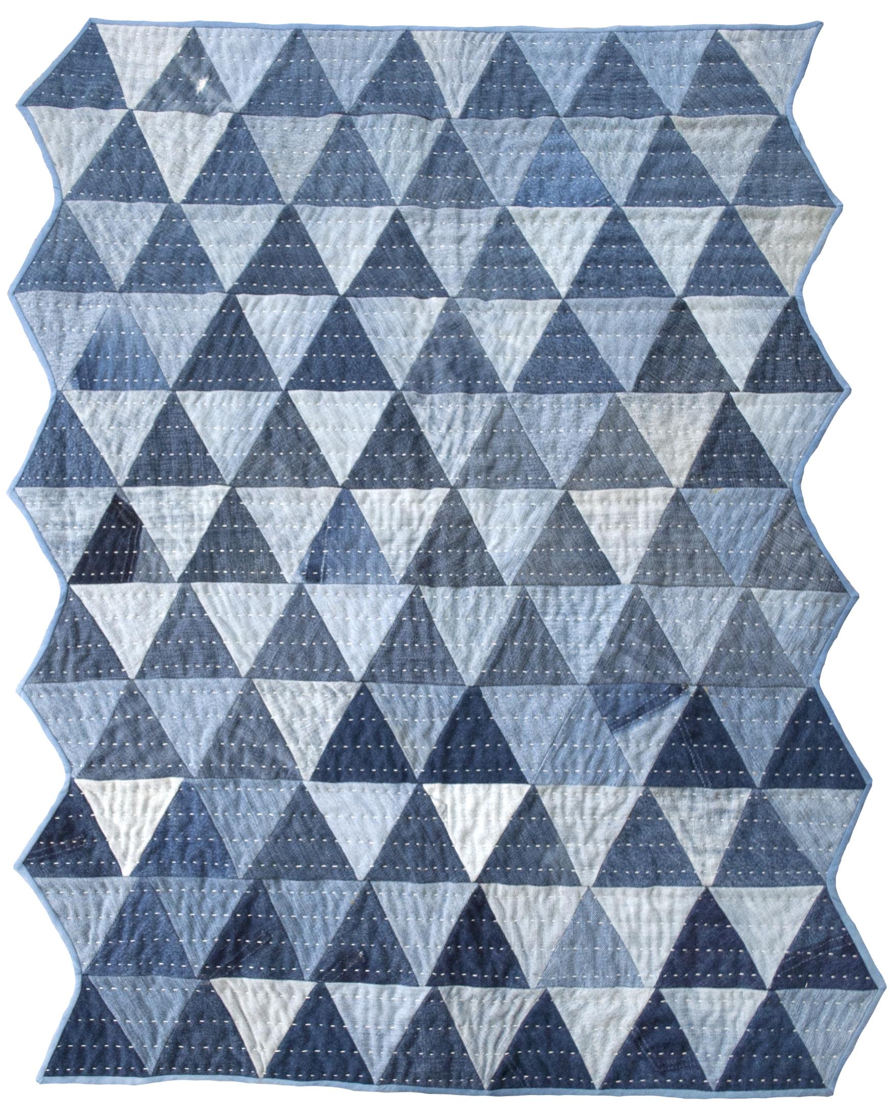 the denim pyramid quilt