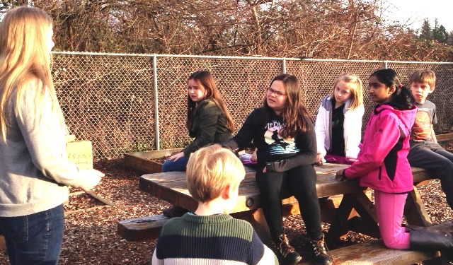 The Green Team learns about bees.