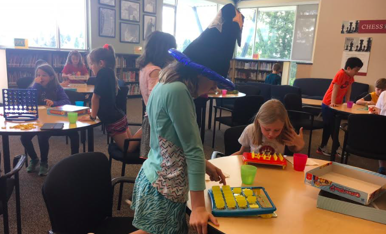 Third grade students enjoyed a board-game themed experience in the library.