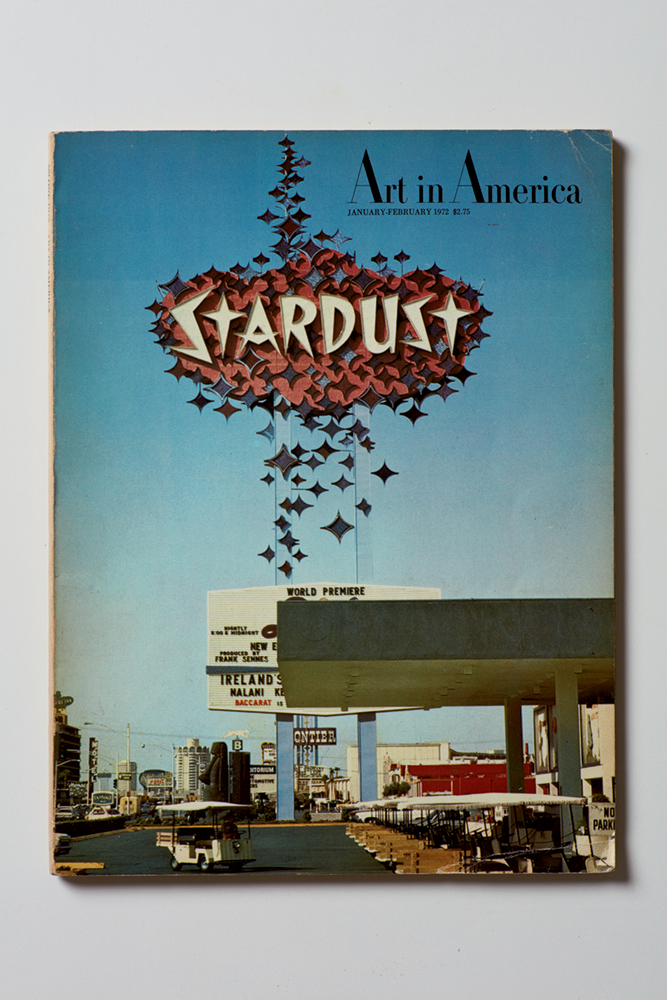 Brian O'Doherty Las Vegas Revisited : Cover of the Jan-Feb 1972 issue of Art in America 1972 Magazine Issue Cover Represented by Art in America