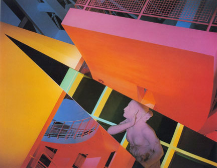 Barbara Kasten Architectural Site #17, The High Museum 1988 Silver dye bleach print Represented by: Bortolami Gallery